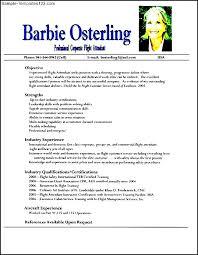 flight attendant resume sample sample templates