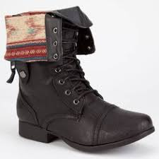 sweater lined foldover combat boots russe sweater lined foldover combat boots by