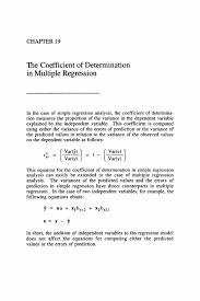 the coefficient of determination in multiple regression springer