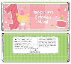 1st birthday girl 1st birthday girl birthday party candy bar wrappers candles favors