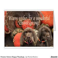 pointer happy thanksgiving large greeting card german