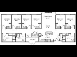 Stadium Floor Plans 4 6 Bed Apartments Stadium Crossing