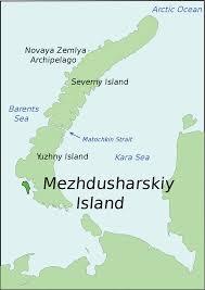 Barents Sea Map Mezhdusharsky Island Wikipedia