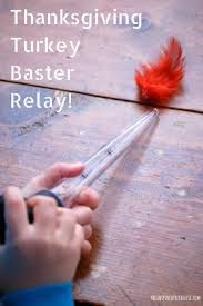 thanksgiving activities for turkey baster relay the