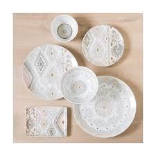 assiette de porcelaine assiette de présentation en porcelaine grise et rose coachella