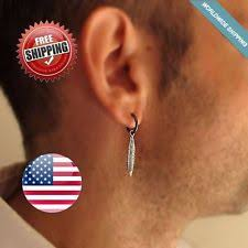 s mens earrings drop dangle earrings studs for men ebay