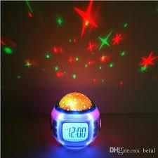 light projection alarm clock 2018 new digital creative multi color music starry projection alarm
