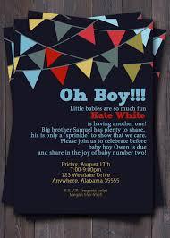 banner bunting baby shower invitation baby sprinkle or sip n see