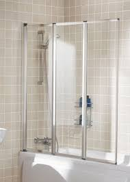 3 Panel Shower Door Lakes Classic Silver 1390mm Framed 3 Panel Bath Screen