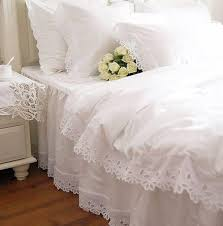 white ruffle quilt cover the quilting ideas