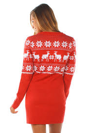 s fair isle sweater dress