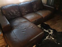 Brown Leather L Shaped Sofa Brown Leather Corner L Shaped Sofa Shabby Chic Loft Style Worn
