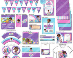 doc mcstuffins birthday party doc mcstuffins party etsy
