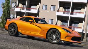 Dodge Viper Orange - 2016 srt viper acr t a add on wipers gta5 mods com