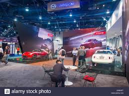 the mazda the mazda booth at the sema show in las vegas navada stock photo