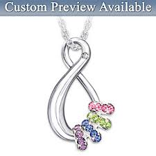 personalized birthstone necklace for personalized swarovski birthstone pendant necklace mothers