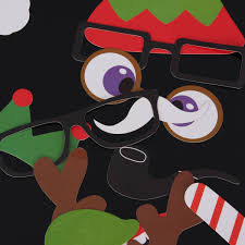 25pcs diy christmas halloween photo booth props party masks