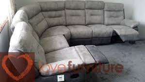 Fabric Recliner Sofa Grey Fabric Corner Recliner Sofa Okaycreations Net