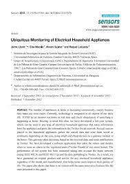 ubiquitous monitoring of electrical household appliances