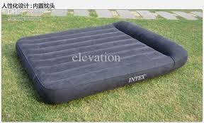 queen size air bed intex 66769 bulit in pillow air mattress free