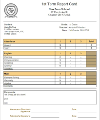 report card format template what is the relationship between gradebooks and report cards