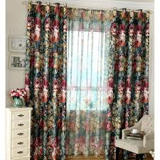 Black Floral Curtains Vintage Floral Curtains Blue Pink Yellow Black Green