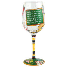 wine glasses teacher u0027s time out wine glass the paper store