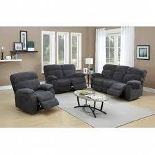 esofastore modern 3pc motion sofa set living room furniture blue