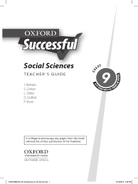 oxford successful grade 9 social science teachers guide