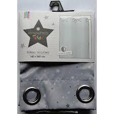 rideau pour chambre enfant rideau occultant gris étoilé pour chambre enfant achat vente