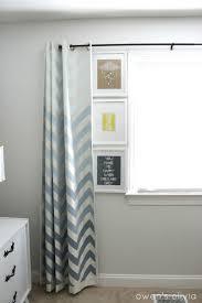 Nursery Room Curtains by Ombre Chevron Curtains In Boys Nursery
