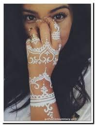 diy how to apply white henna body paint temporary tattoo tutorial