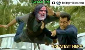 Meme Om - salman khan beating swami om picture is our new favourite bigg boss