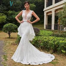 buy mermaid wedding dress backless court train sleeveless trumpet