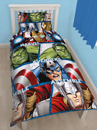 Marvel Bedding Marvel Avengers Shield Single Duvet Cover And Pillowcase Kids Bedding