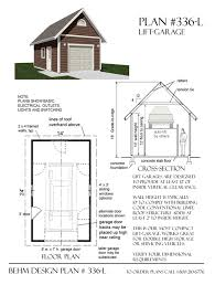 garage plans 1 car automotive lift garage plan 336 l 14 u0027 x