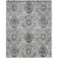 shop safavieh madison abbey cream light gray indoor lodge area rug