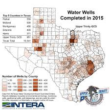 Texas Map By County Water Well Report By County Upper Trinity Groundwater