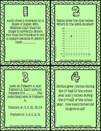 5th grade math review logic puzzle end of the year activity by