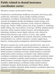 Insurance Sample Resume by Top 8 Dental Insurance Coordinator Resume Samples