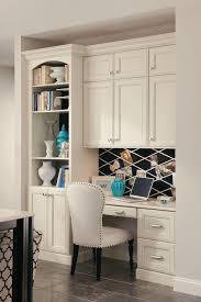 Kitchen Without Upper Cabinets by A Built In Desk With Bookcase And Cabinets Creates A Seamless Home