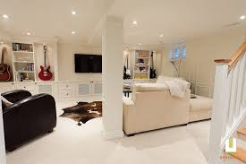 basement design beckwith ave u2013 classic white basement renovation urbanomic