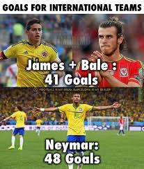 Soccer Memes - neymar vs bale and james soccer memes goal91