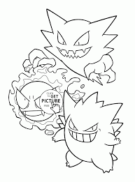 coloring pages for pokemon characters pokemon gastly evolution coloring pages for kids pokemon characters