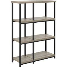 Contemporary Oak Bookcase Elmwood Bookcase Room Divider Sonoma Oak Walmart Com
