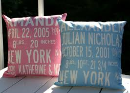 personalized pillows for baby custom birth announcement pillow featured at babybox