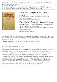 transition of temporary concrete barrier pdf download available