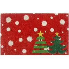entryways trees 17 in x 28 in non slip coir door mat