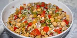 recette de cuisine turc salade de pois chiches à la turque facile et pas cher recette sur