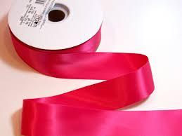 wide satin ribbon pink ribbon faced hot pink satin ribbon 1 1 2 inches wide